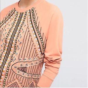 Anthropologie Akemi+Kin Embroidered sweatshirt